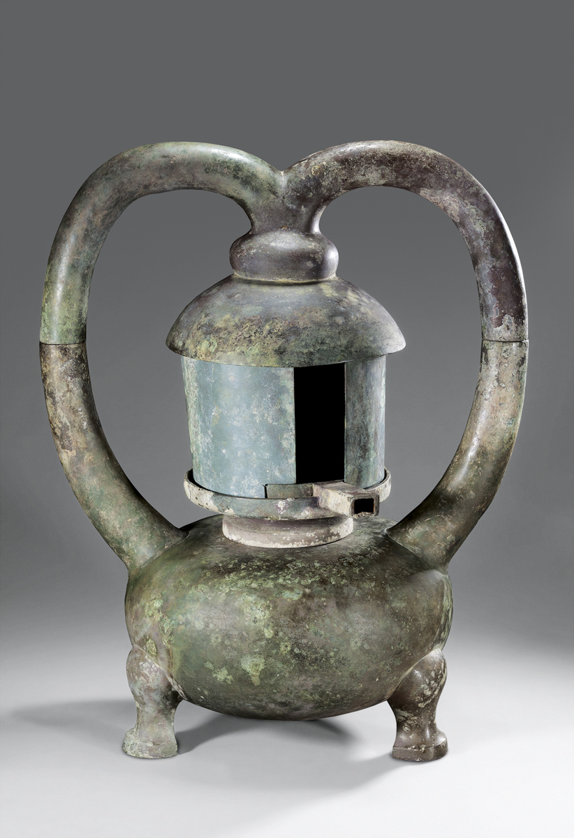 Lamp. Bronze. Tomb 1, Dayun Mountain, Xuyi, Jiangsu. Nanjing Museum.