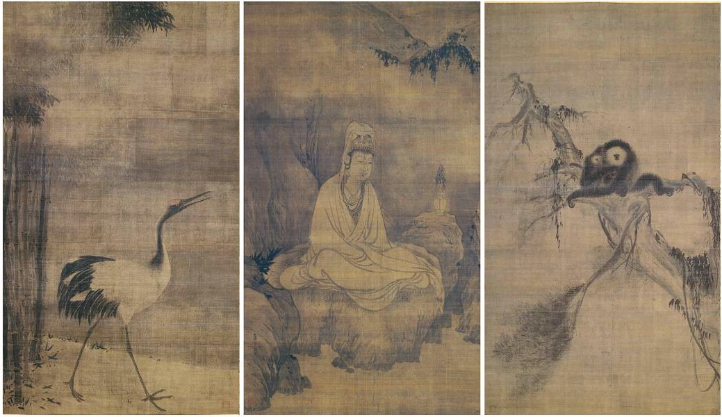 Guanyin, Gibbons, and Crane