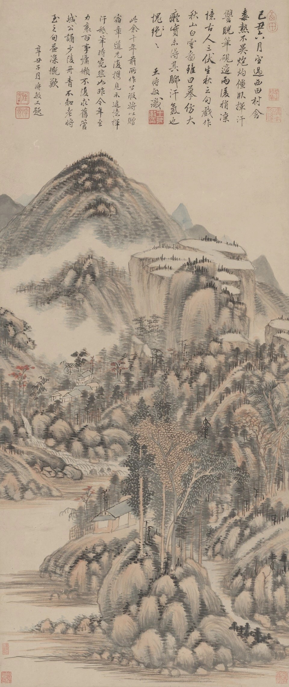 Wang Shimin: Autumn Mountains and White Clouds