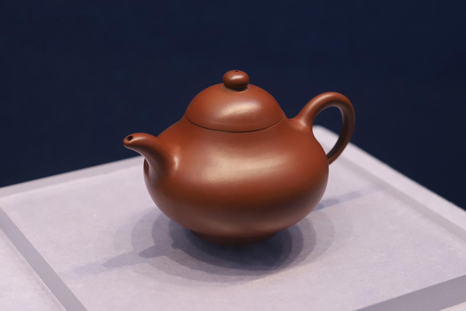 Pear-shaped Red Clay Teapot by Gu Jingzhou